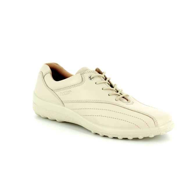 Hotter Lacing Shoes - Off-white - 7208/66 TONE E FIT