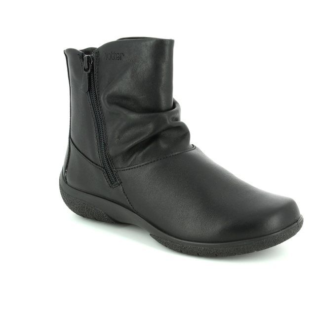 Hotter Ankle Boots - Black - 7205/30 WHISPER