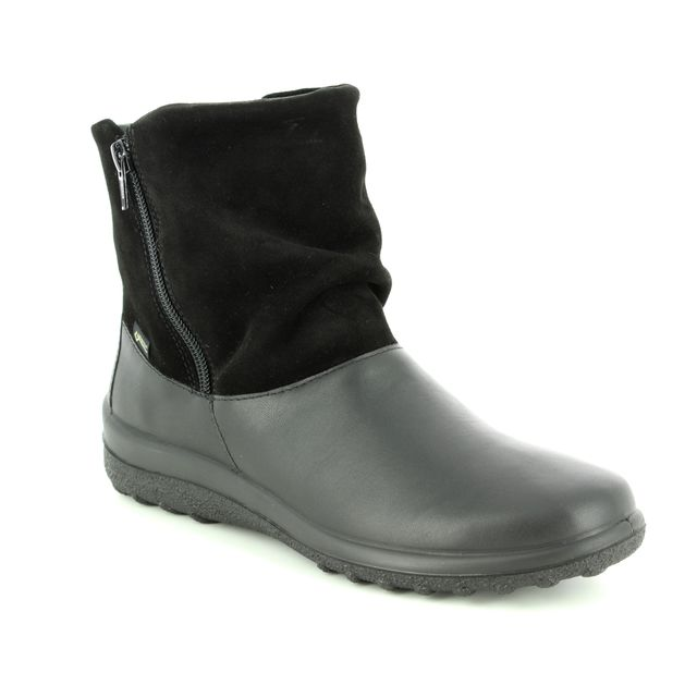 Hotter Fashion Ankle Boots - Black leather - 8508/30 WHISPER GTX