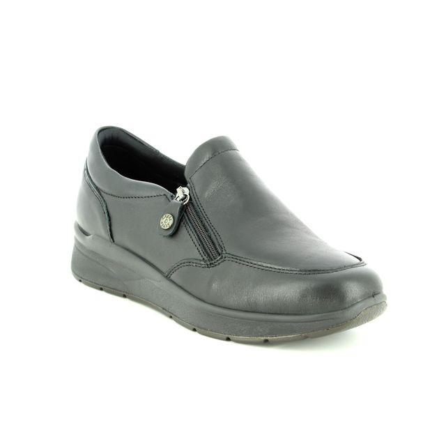 IMAC Comfort Shoes - Black leather - 6580/1400011 ALFA PLAIN