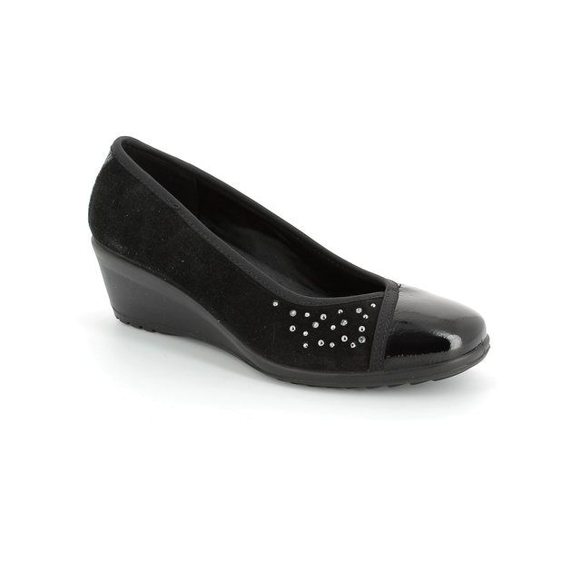 IMAC Wedge Shoes - Black patent suede - 51860/4200011 AMBRADIA