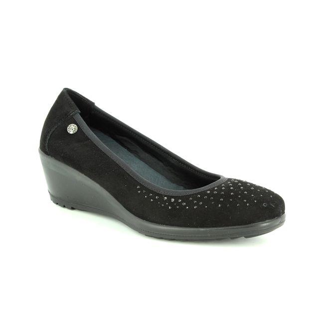 IMAC Wedge Shoes - Black suede - 6780/5920011 AMBRADIAM