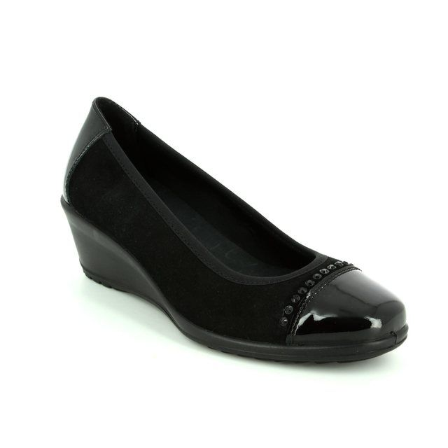 IMAC Wedge Shoes - Black patent suede - 62081/7150011 AMBRADICA