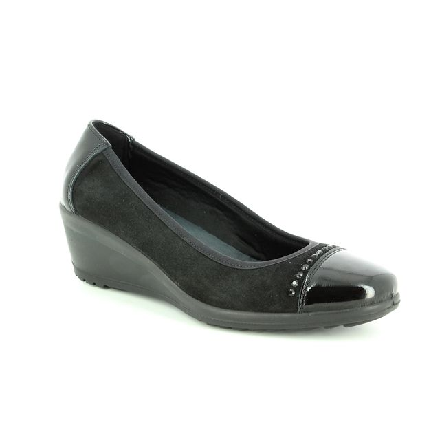 IMAC Wedge Shoes - Black patent suede - 6791/7150011 AMBRADICA 85