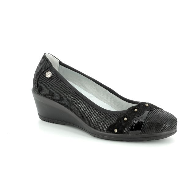 IMAC Wedge Shoes - Black patent suede - 71920/7453001 AMBRASH