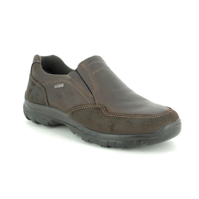 IMAC Slip-on Shoes - Brown leather - 2498/3503017 GORDON SLIP TEX