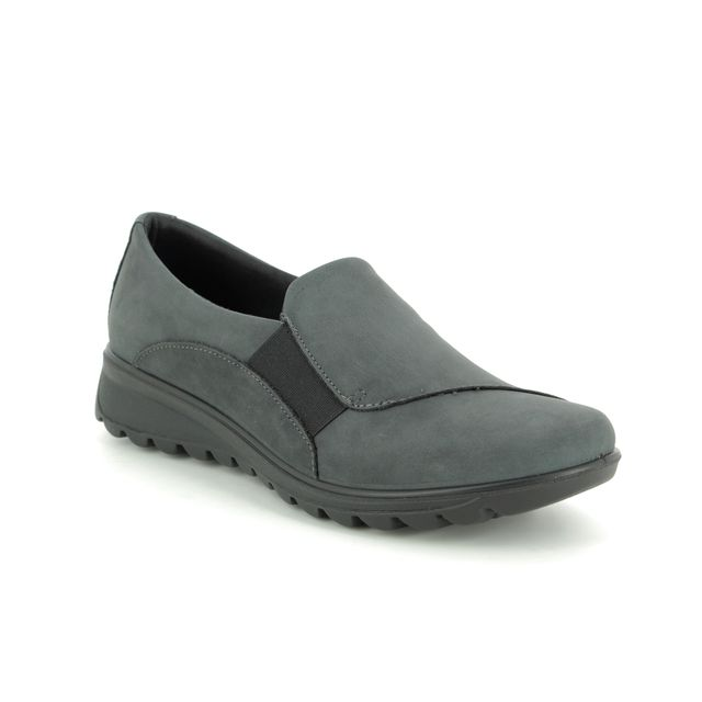 IMAC Comfort Slip On Shoes - Grey nubuck - 7290/30054018 KARENA