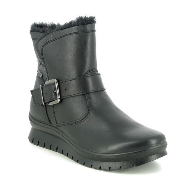 IMAC Ankle Boots - Black leather - 7718/1400011 KIA BUCK TEX