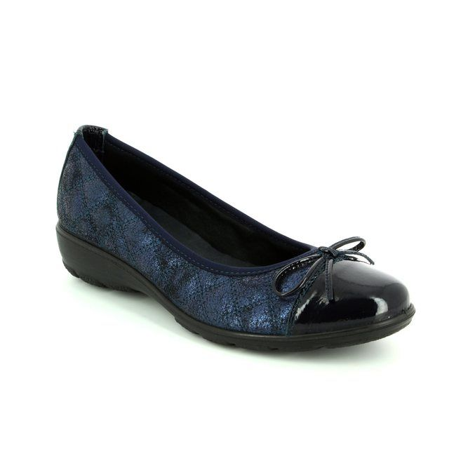 IMAC Pumps - Navy patent-suede - 82400/7210109 PENNYQUILT