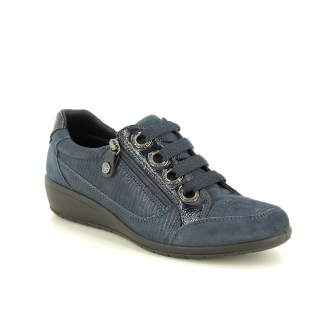 IMAC Comfort Slip On Shoes - Navy suede - 6971/54041009 PERSILACE