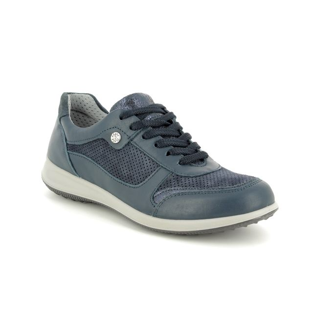 IMAC Trainers - Navy Leather - 5970/14111009 PLURIEL 91