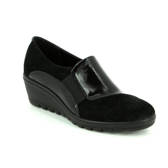 IMAC Comfort Slip On Shoes - Black patent suede - 82860/4200011 ROXANKAR