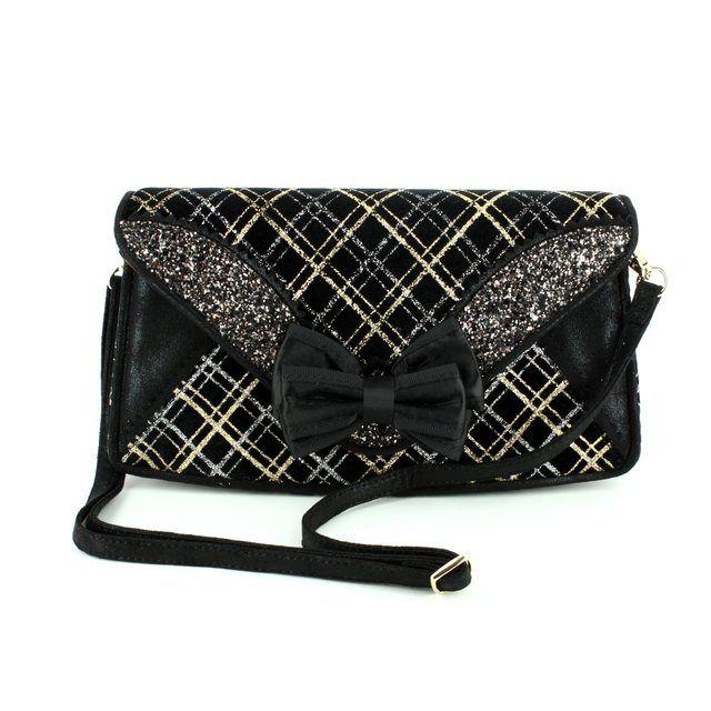 Irregular Choice Ban Joe Bag BANJ-01P Black multi matching handbag