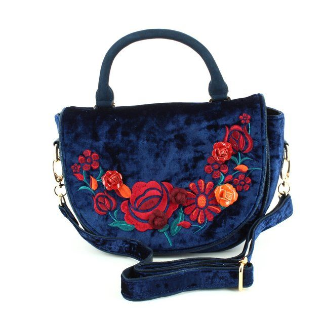 Irregular Choice Matching Handbag - Navy multi - CASA-01C CASA BLANCA HANDBAG