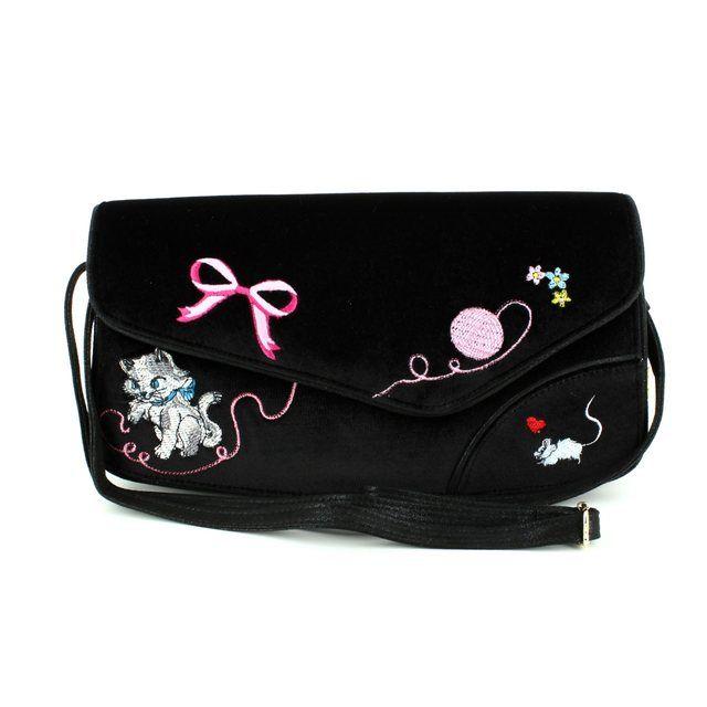 Irregular Choice Matching Handbag - Black multi - KITL-V01C KITTY LOVE BAG