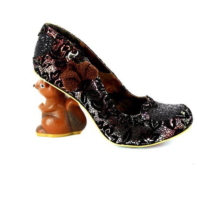 Irregular Choice High-heeled Shoes - Black multi - 4301-02C NIBBLES MCNUTTY
