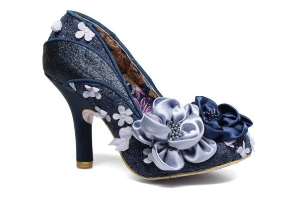 Irregular Choice High-heeled Shoes - Navy multi - 4331-08D PEACH MELBA