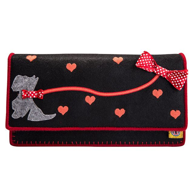 Irregular Choice Scottie Dog Cl 008425-30G Black matching handbag