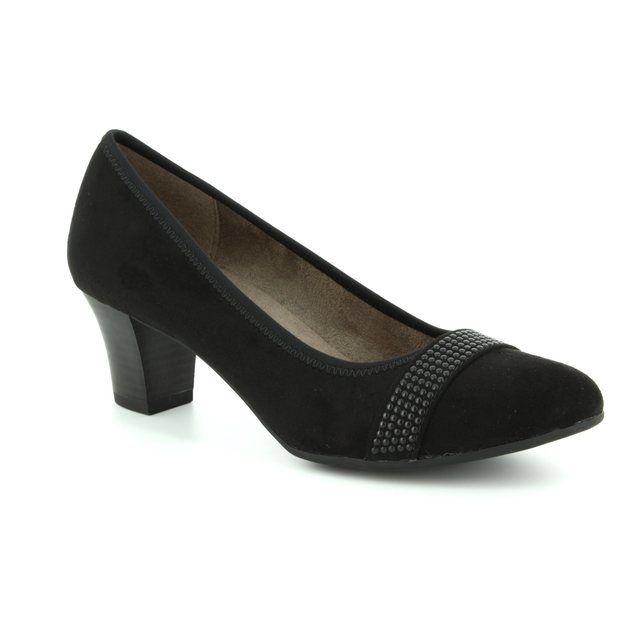 Jana Heeled Shoes - Black suede - 22474/20/001 ABURA