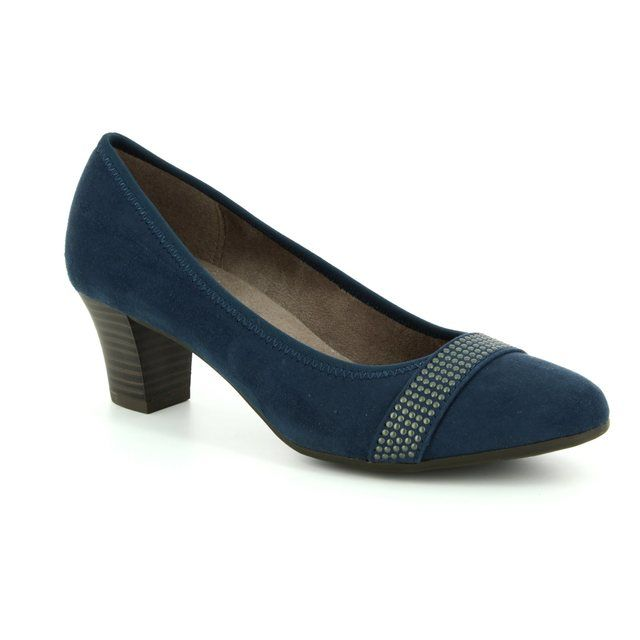 Jana Heeled Shoes - Navy suede - 22474/20/805 ABURA