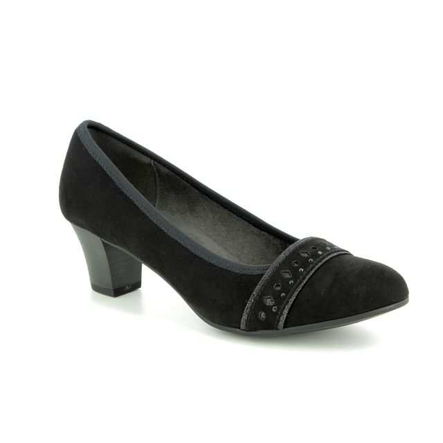 Jana Heeled Shoes - Black suede - 22474/21/001 ABURA  82