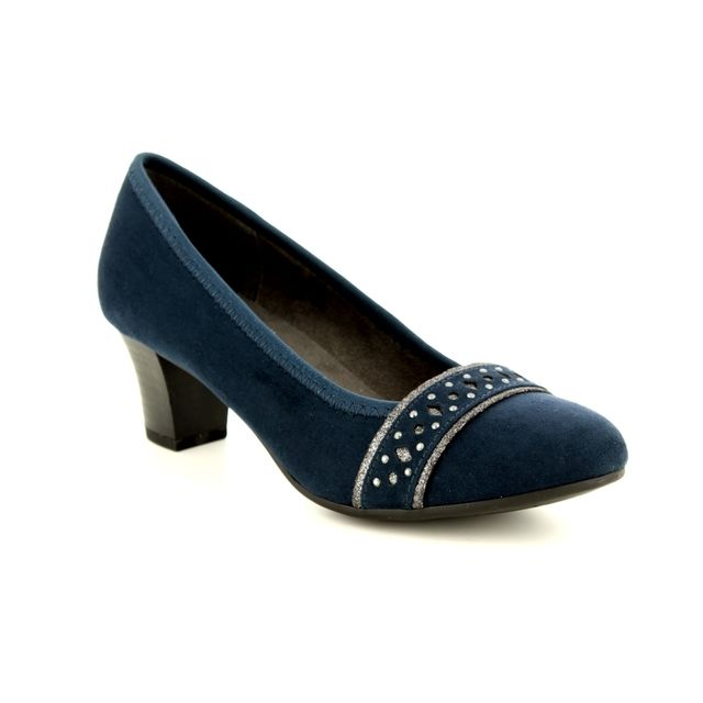 Jana Heeled Shoes - Navy suede - 22474/21/805 ABURA 82