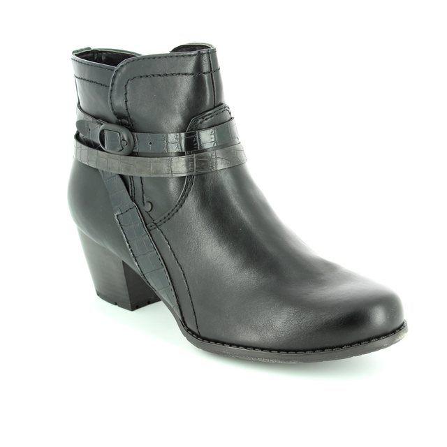 Jana Bastra 25369-001 Black multi ankle boots