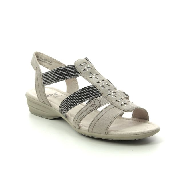 Jana Comfortable Sandals - Stone - 28163/24231 ELEAJANA 1 H FIT