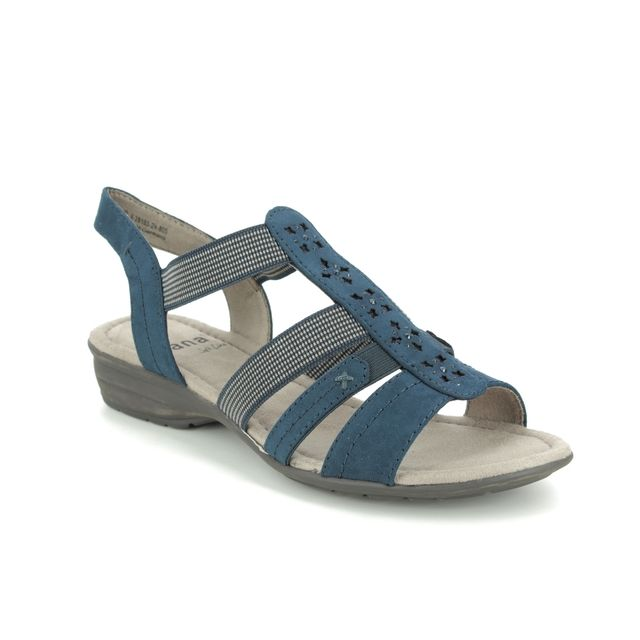 Jana Comfortable Sandals - Navy - 28163/24805 ELEAJANA 1 H FIT