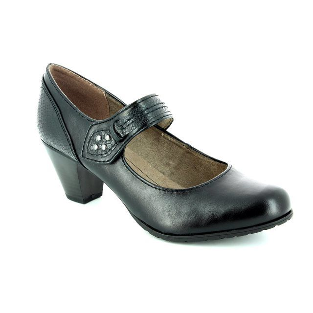 Jana Landerbar 24460-001 Black heeled shoes