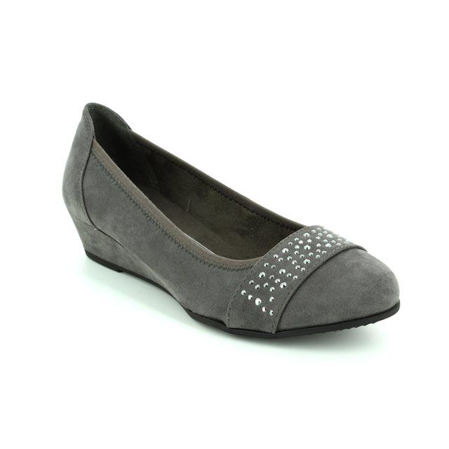 Jana Miraja-206 Grey pumps