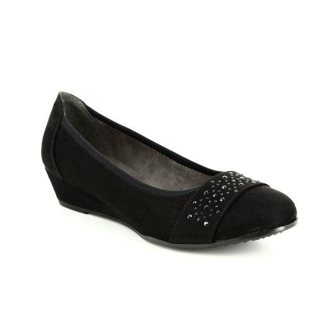 Jana Wedge Shoes - Black suede - 22260/21/001 MIRAJA 82
