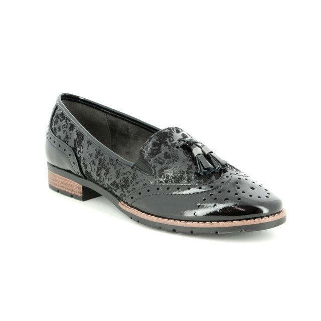 Jana Loafers - Black patent - 24260/21/019 TASSLE