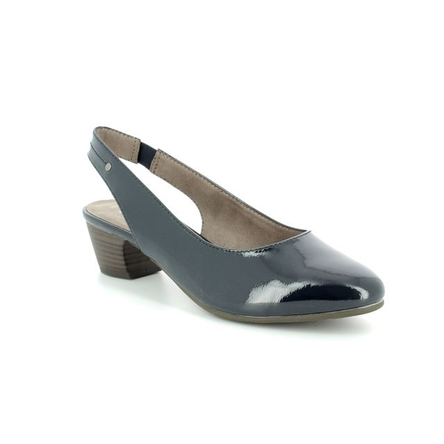 Jana Heeled Shoes - Navy patent - 29561/20/902 ZATORASLING