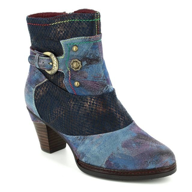 Laura Vita Ankle Boots - Blue multi - 3001/70 AGATHE 43