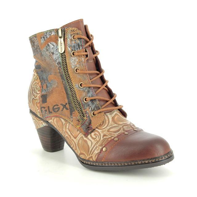 Laura Vita Ankle Boots - Tan Leather - 9507/11 ALCIZEEO 12