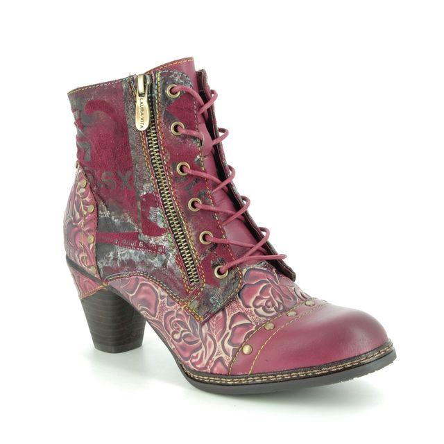 Laura Vita Alcizeeo 12 9507-81 Wine leather ankle boots