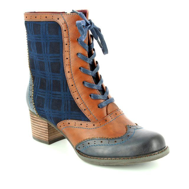 Laura Vita Alexia 05 Bleu 2002-70 Navy multi ankle boots
