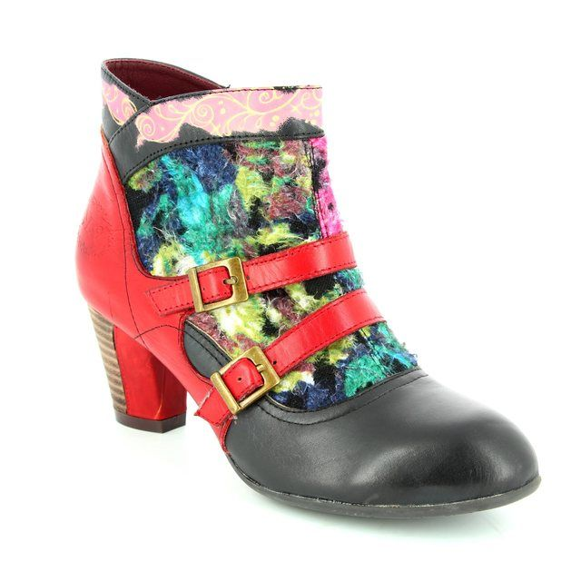 Laura Vita Ankle Boots - Black multi - 2005/30 AMANDA 30 NOIR