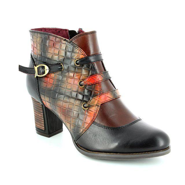 Laura Vita Ankle Boots - Black multi - 2001/30 ANGELA 02 NOIR