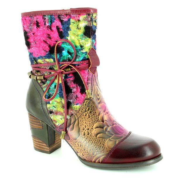 Laura Vita Ankle Boots - Purple multi - 2003/80 ANNA 03 VIOLET