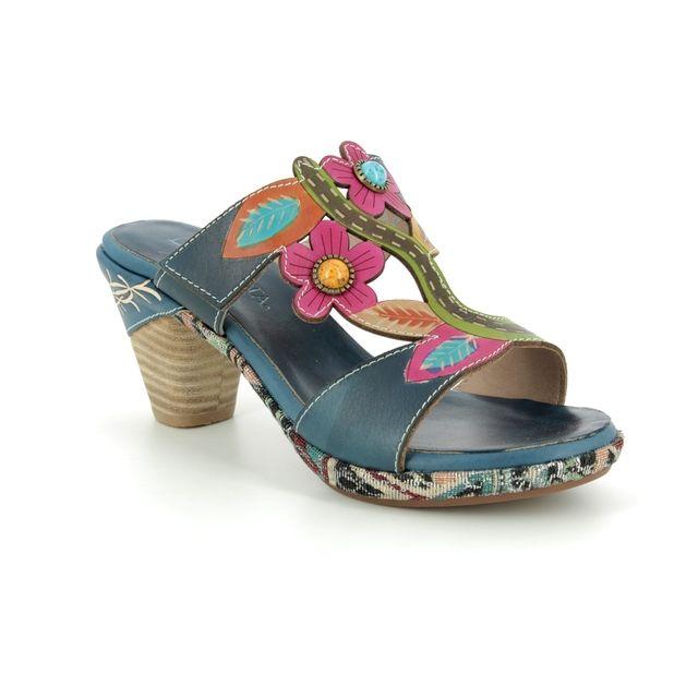 Laura Vita Heeled Sandals - Navy - 9102/71 BELFORT 09