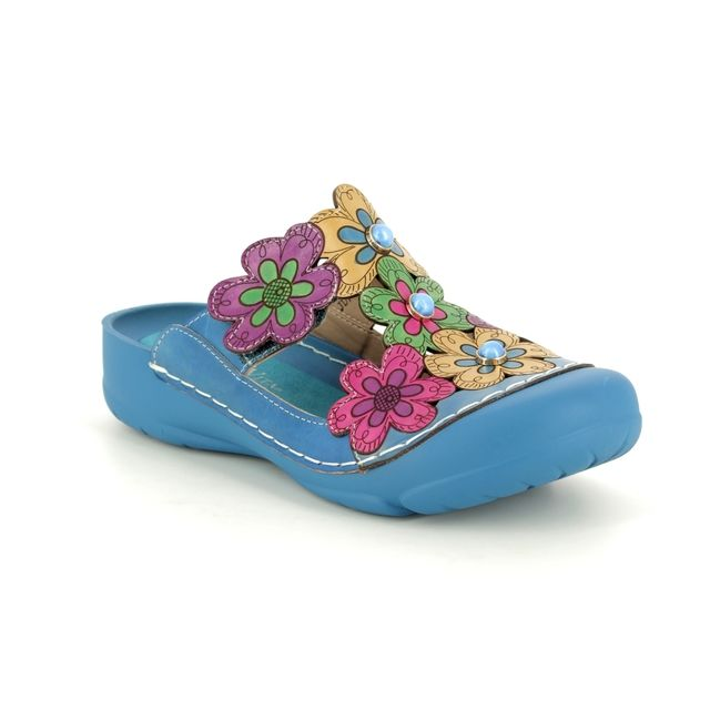 Laura Vita Slipper Mules - Blue - 9106/72 BIANCA 109