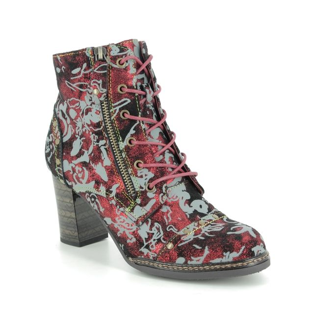 Laura Vita Ankle Boots - Red leather - 9514/80 ELCEAO 07