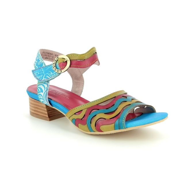 Laura Vita Heeled Sandals - Turquoise - 9105/94 FLORA 04