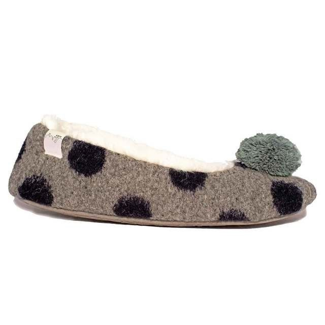 Lazy Dogz Slipper Mules - Grey - 1001/00 BELLA