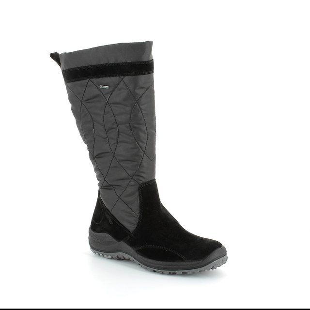 Legero Anconsheep Gor 00983-00 Black suede knee-high boots