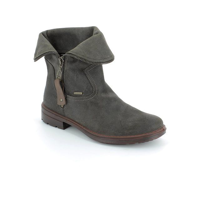 Legero Biella Gore 00684-30 Brown suede or snake ankle boots