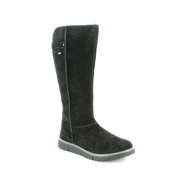 Legero Knee-high Boots - Black Suede - 00657/00 CAMPANIA HI GTX