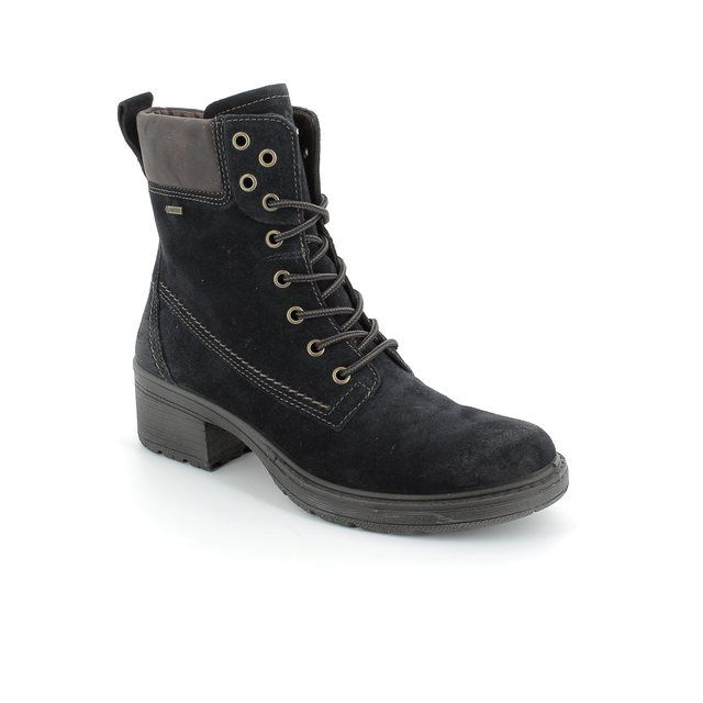 Legero Ankle Boots - Navy suede - 00554/80 LAURIALACE GORE-TEX